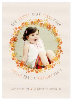 Bright Star Party Invitations