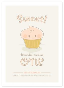 babycakes Party Invitations