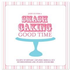 Smash Caking on Platter Party Invitations