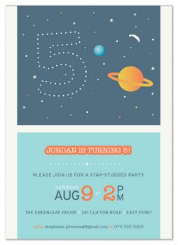 Star-Studded Birthday Party Invitations