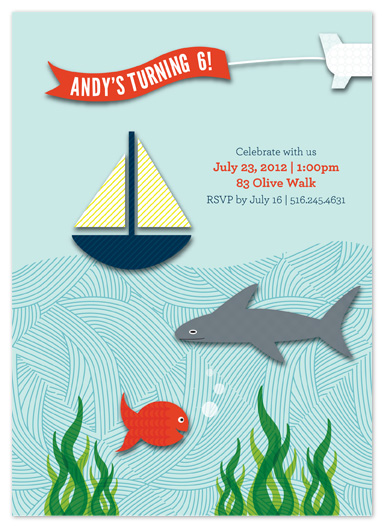 party invitations - Under the Sea by Allison Gaffney