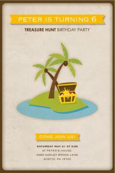 Treasure Hunt! Party Invitations