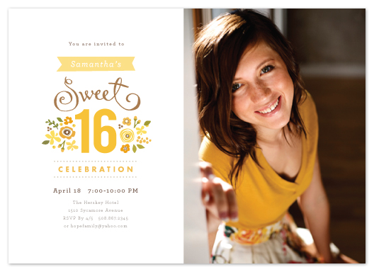 party invitations - Sweet Cinquefoil by Jennifer Wick
