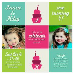 Twin-tastic Birthday Party Invitations