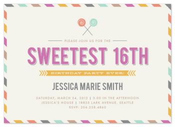 The Sweetest 16th Party Invitations