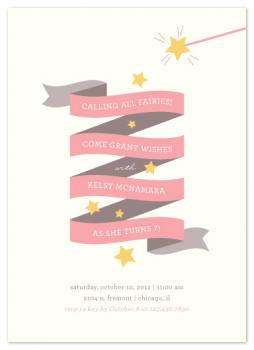 Fairy Stars Party Invitations