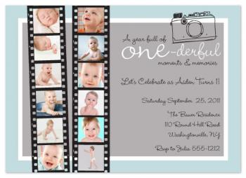 A Year of Memories Party Invitations