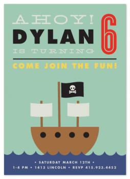 Ahoy! Party Invitations