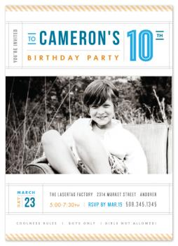 Headliners Party Invitations