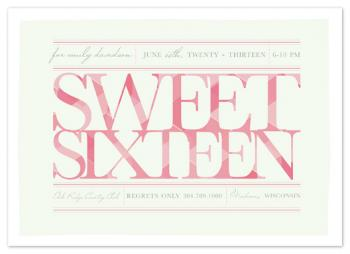 Elegant Sweet Sixteen Party Invitations