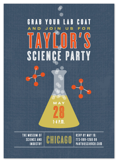 party invitations - Science by Kristie Kern