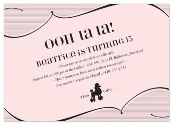 Tres Chic Party Invitations