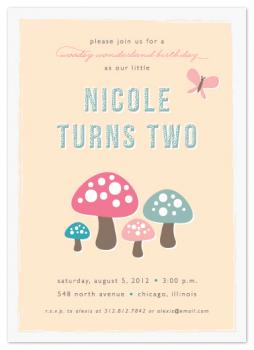 Woodsy Wonderland Party Invitations