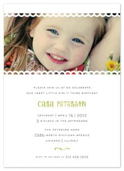 Sweet Eyelets Party Invitations