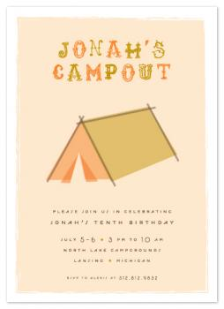 Cool Campout Party Invitations