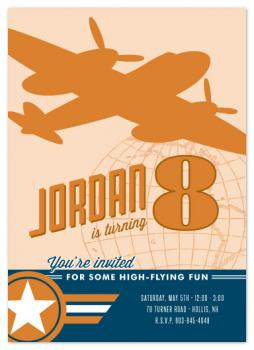 Vintage Aviation Party Invitations