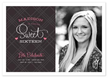 sixteen couture Party Invitations