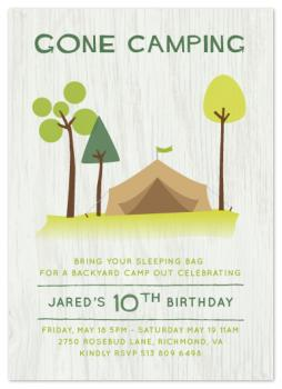 Gone Camping Party Invitations