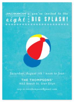 Big Splash! Party Invitations