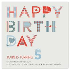 Birthday letters Party Invitations
