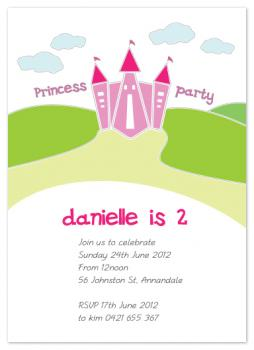 Princess Party Party Invitations