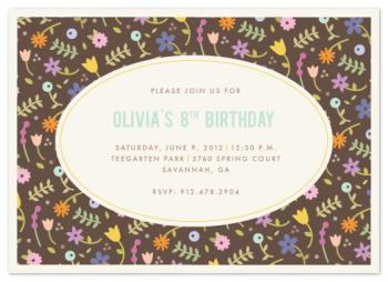 Garden Party Party Invitations