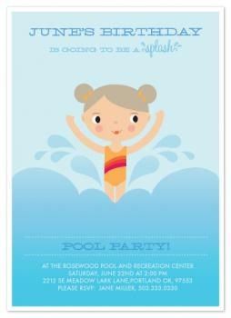 Splashing Birthday Party Invitations