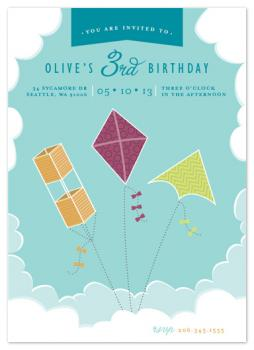 Kite Trio Party Invitations
