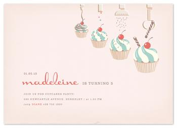 cupcake topping factory Party Invitations