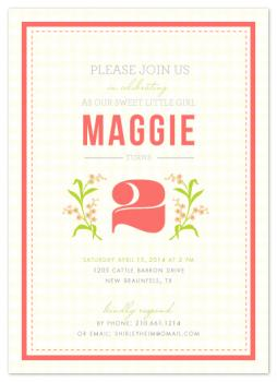 Belle Fleur Party Invitations