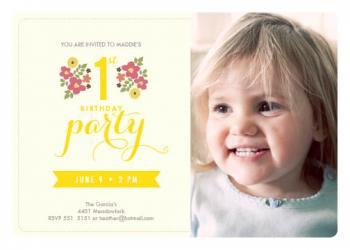 Make it a flower party Party Invitations