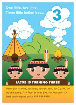 Little Indian Boy Party Invitations