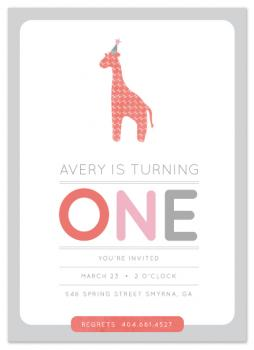 Giraffe Calf Party Invitations