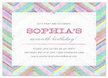 Bright Chevron Party Invitations
