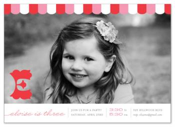 candy stripe Party Invitations