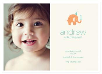 Simple Elephant Party Invitations