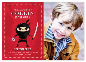 Mighty NINJA! Party Invitations