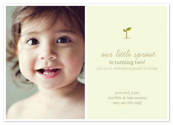 Sprout Party Invitations