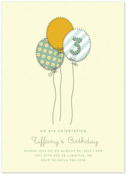 Balloon Trio Party Invitations