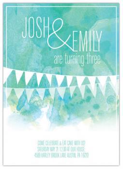 Twin birthday Party Invitations