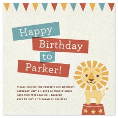 Paper Circus Party Invitations
