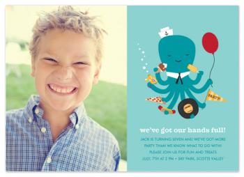 we've got our hands full (photo) Party Invitations