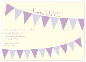 A Banner Day Party Invitations