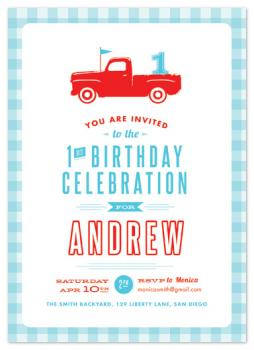 Americana Boy Party Invitations