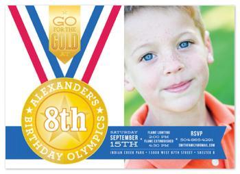 Birthday Olympics  Party Invitations