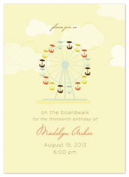 Ferris Wheel Fun Party Invitations