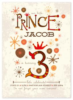 our little prince Party Invitations