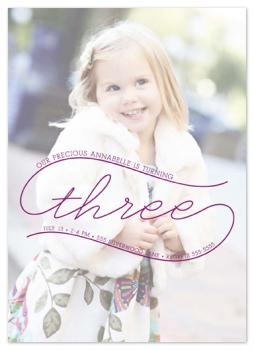 Precious Three Party Invitations