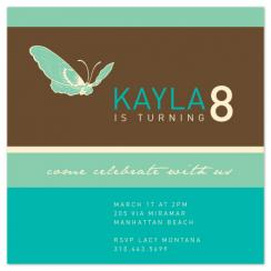simple butterfly Party Invitations