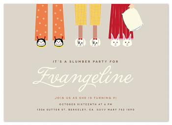 slippers buddies Party Invitations